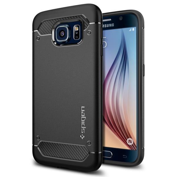 Spigen Capsule Ultra     Rugged Black Samsung S6 maciņš, apvalks mobilajam telefonam