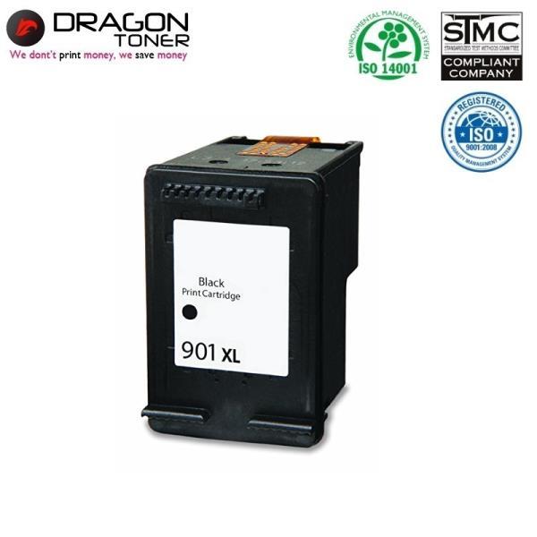 Dragon HP 901XL CC654AE Melns Tintes Kārtridžs 20ml priekš OfficeJet J5440 4500 uc HQ Premium Analogs aksesuārs mobilajiem telefoniem