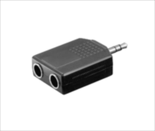 MicroConnect AUDALU Adapter 3.5mm - 2X6.3mm M-F Stereo