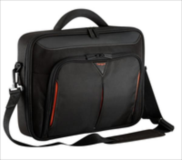 Targus 17 - 18 inch / 43.2 - 45.7cm Classic+ Clamshell Case, black and red portatīvo datoru soma, apvalks