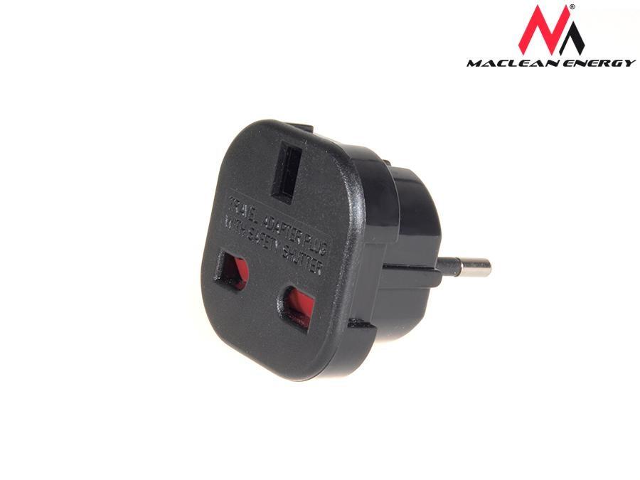 Power adapter EU UK MCE72 Maclean adapteris