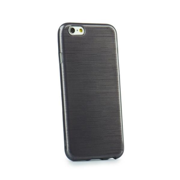 Forcell Jelly Brush Perlamutra telefona silikona apvalks Samsung J500F Galaxy J5 Melns maciņš, apvalks mobilajam telefonam