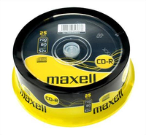 Maxell CD-R Music 700MB XL II cake 25   (628529) matricas