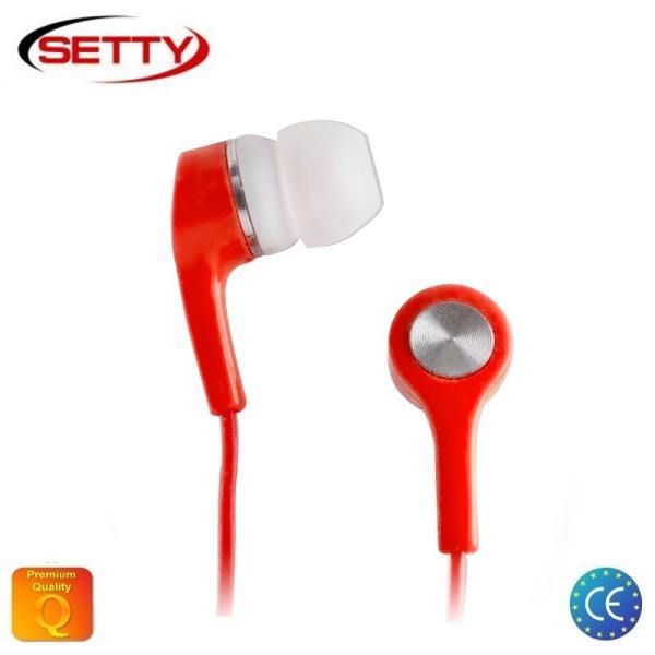 Setty Universālas X-Bass 3.5mm In-Ear Austiņas priekš MP3/Mp4 mūzikas bez mikrofona Sarkanas aksesuārs mobilajiem telefoniem