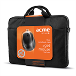 Acme 16M37 Notebook Case + MS13 Optical Mouse portatīvo datoru soma, apvalks