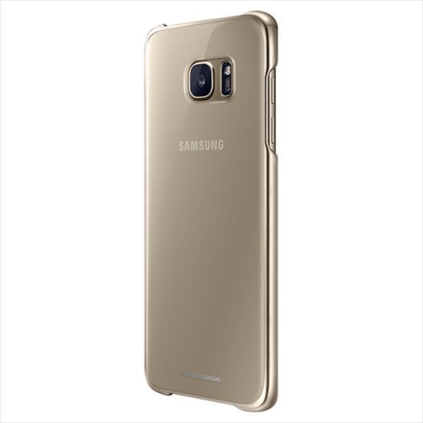 Samsung Clear Cover for Galaxy S7 Edge G935F (Gold) maciņš, apvalks mobilajam telefonam