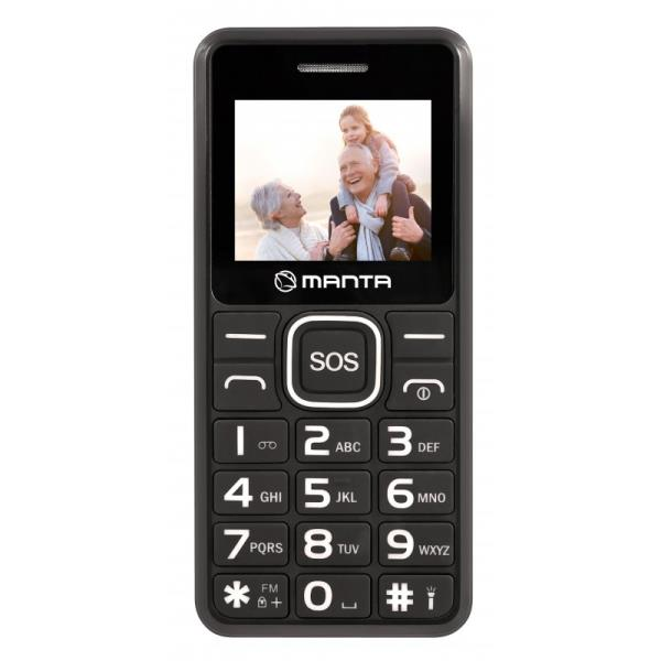 Manta Multimedia TEL1707 Senior Black Mobilais Telefons