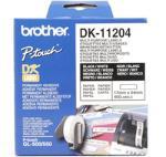 Brother DK-11204, 17mm x 54mm white multi purpose labels, 400 films biroja tehnikas aksesuāri