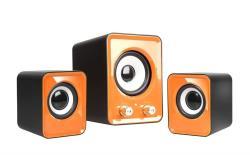 Speakers 2.1 TRACER OMEGA Orange USB datoru skaļruņi
