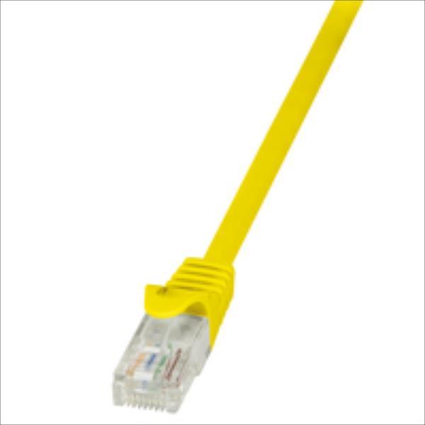 LOGILINK - Patchcord Cat.6 U/UTP EconLine 0,5m yellow tīkla kabelis