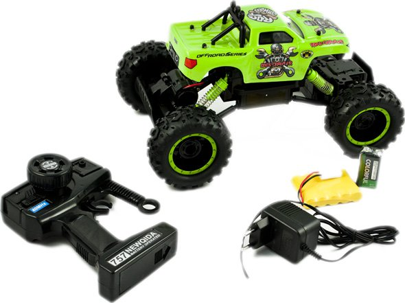 Ikonka NQD ROCK CRAWLER KING 1:18 4x4 džips (divi motori) Radiovadāmā rotaļlieta