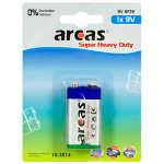 Arcas Super Heavy Duty 9V Block (6LF22), 1-pack Baterija