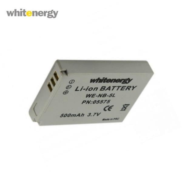 Whitenergy 05726 Augstas kvalitātes Analogs NB-4L Canon Foto Kameras Akumulātors 500mAh 3.6V Baterija