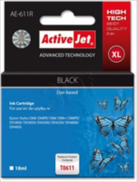 ActiveJet AE-611R | black | 18 ml | Epson T0611 kārtridžs