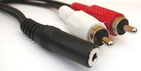 Sandberg Adapter MiniJack-F->2xRCA-M PCI-E karte