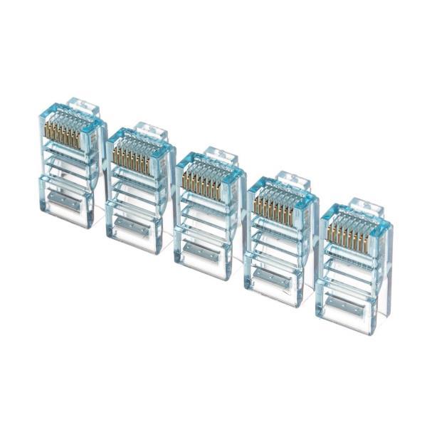 Netrack plug RJ45 8p8c, UTP for solid cable, cat. 5e (100 pcs.), blue