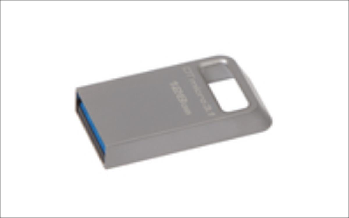 Kingston USB 128GB DTMicro USB 3.1/3.0 Type-A metal ultra USB Flash atmiņa