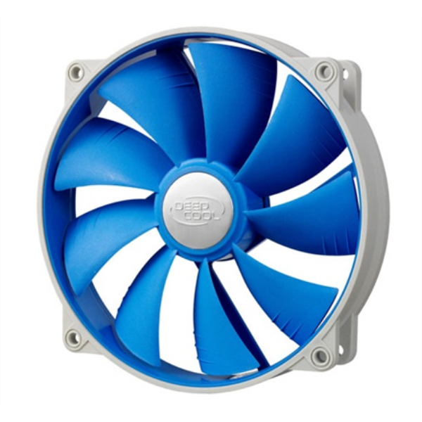 Deepcool 140mm  BLUE Ultra silent fan with PWM and  De-vibration TPE cover, with 120 mm mounting holes for case, coolers and psu deepcool dzesētājs, ventilators