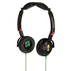 SKULLCANDY HEADPHONES   ON EAR LOWRIDER RASTA austiņas