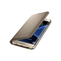Samsung EF-NG935PFEGWW LED View Case S7 Edge Gold maciņš, apvalks mobilajam telefonam