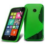Telone Back Case S-Case gumijots telefona apvalks Nokia 530 Lumia Zaļš aksesuārs mobilajiem telefoniem