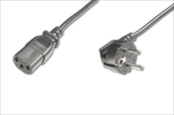 ASSMANN Power cord Schucko angled/IEC C13 M/F 2,5m Barošanas kabelis