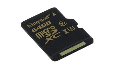 Kingston 64GB microSDXC Class U3 UHS-I 90R/45W Single Pack w/o Adapter atmiņas karte