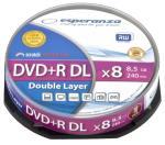 DVD+R Double Layer ESPERANZA [ cake box 10   8,5 GB   8x ] matricas