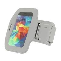 Qoltec Sports Armband for smartphone max.5'' gray soma foto, video aksesuāriem