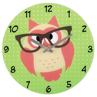 HAMA WALL CLOCK 'OWL     WITH GLASSES ' Sienas pulkstenis