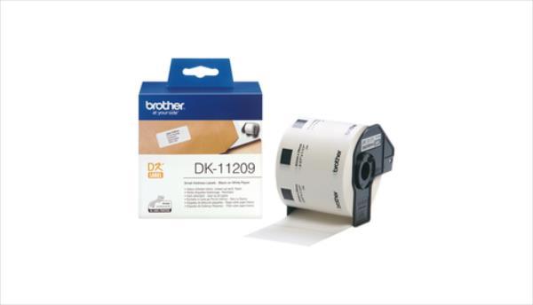 Brother DK11209 Mazās adrešu uzlīmes 29x62  800gab biroja tehnikas aksesuāri
