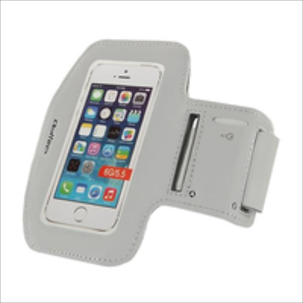 Qoltec Sports Armband for smartphone max.5.5'' gray soma foto, video aksesuāriem