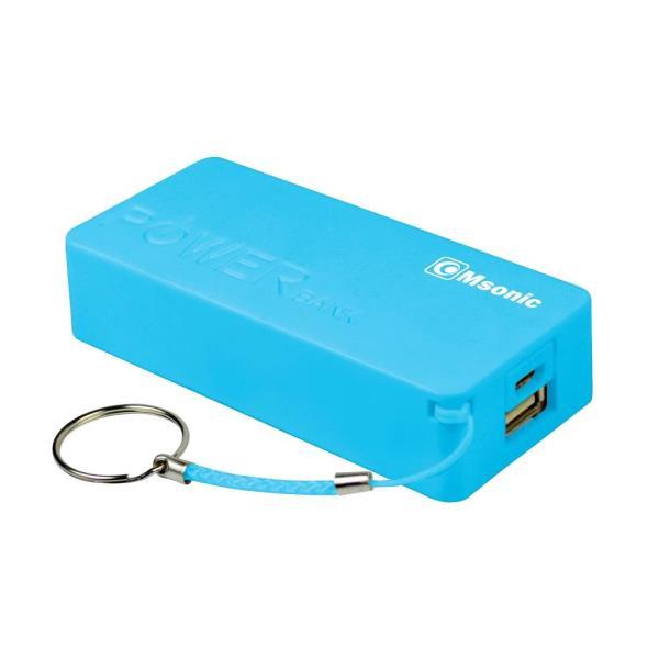 Vakoss Msonic MY2580B, 5000mAh, Blue Powerbank, mobilā uzlādes iekārta