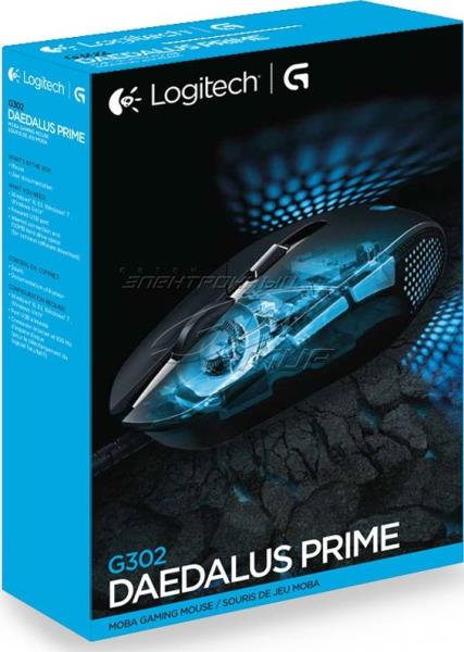 Gaming mouse Logitech G302 Daedalus Prime, 4000dpi, 6 programmable buttons Datora pele