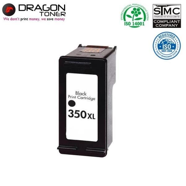 Dragon HP 350 XL CB335EE Melns Tintes Kārtridžs 20ml priekš DeskJet D4260 J6410 uc HQ Premium Analogs aksesuārs mobilajiem telefoniem