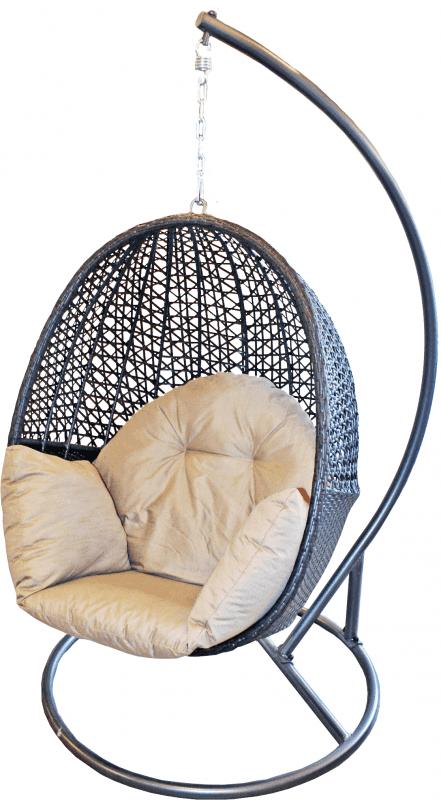 Šūpuļkrēsls ar spilvenu, ratanga 110x85x72cm Dārza mēbeles