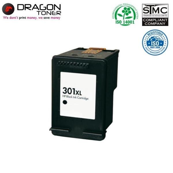 Dragon HP 301XL CH563EE Melns Tintes Kārtridžs 20ml priekš DeskJet 1050 2050 3050 uc HQ Premium Analogs kārtridžs