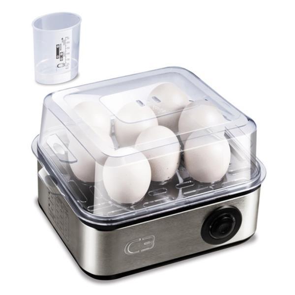 C3 Olu vārītājs. 1-8 olu(mīkstas, vidējas, cietas) vārīšana trauciņš līdz 4 porciju pagatavošanai bez caumalas Virtuves piederumi