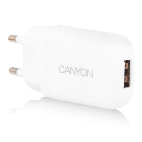 Canyon CNE-CHA11W 1A 5V USB Ligzdas Universāls Tīkla Lādētājs Balts (EU Blister) aksesuārs mobilajiem telefoniem