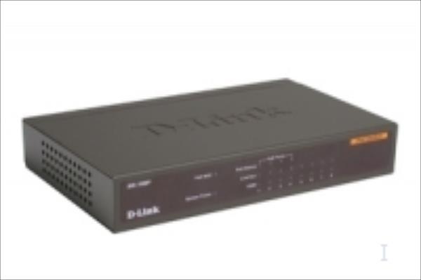 D-Link DES-1008P Desktop, Unmanaged, 10/100 Mbps, 4 PoE ports, 8 ports komutators