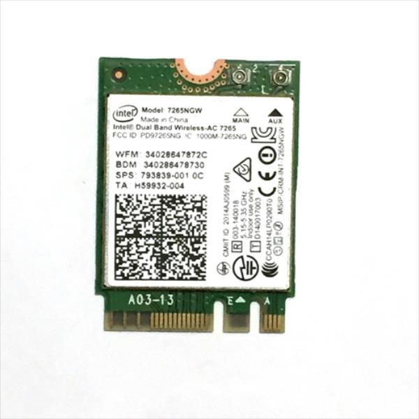 INTEL Dual Band Wireless-AC 7265 tīkla karte