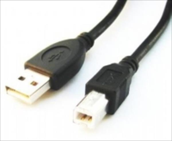 Gembird USB 2.0 A- B 3m cable black color USB kabelis