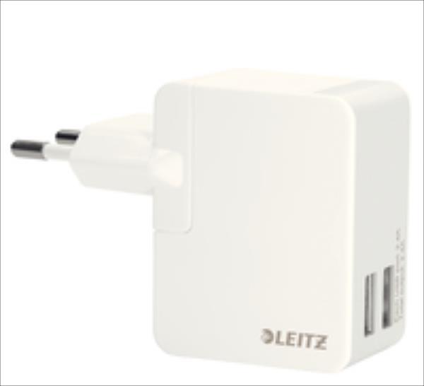Leitz  Charger USB Wall Dual EU 12W Leitz Complete White aksesuārs mobilajiem telefoniem