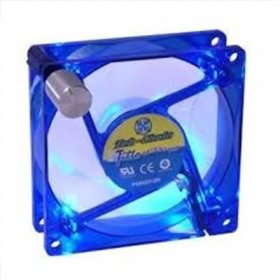 Enermax 80mm TekChain with Blue LED (4 diodes) manageable RPM case fan dzesētājs, ventilators