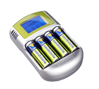 Varta Power LCD Charger 12V USB inkl. 4 Akkus 2400 mAh Mignon AA Baterija