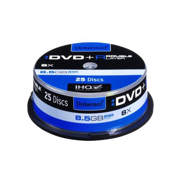 Intenso DVD+R DL DoubleLayer Intenso [ cakebox 25 | 8,5GB | 8x ] matricas
