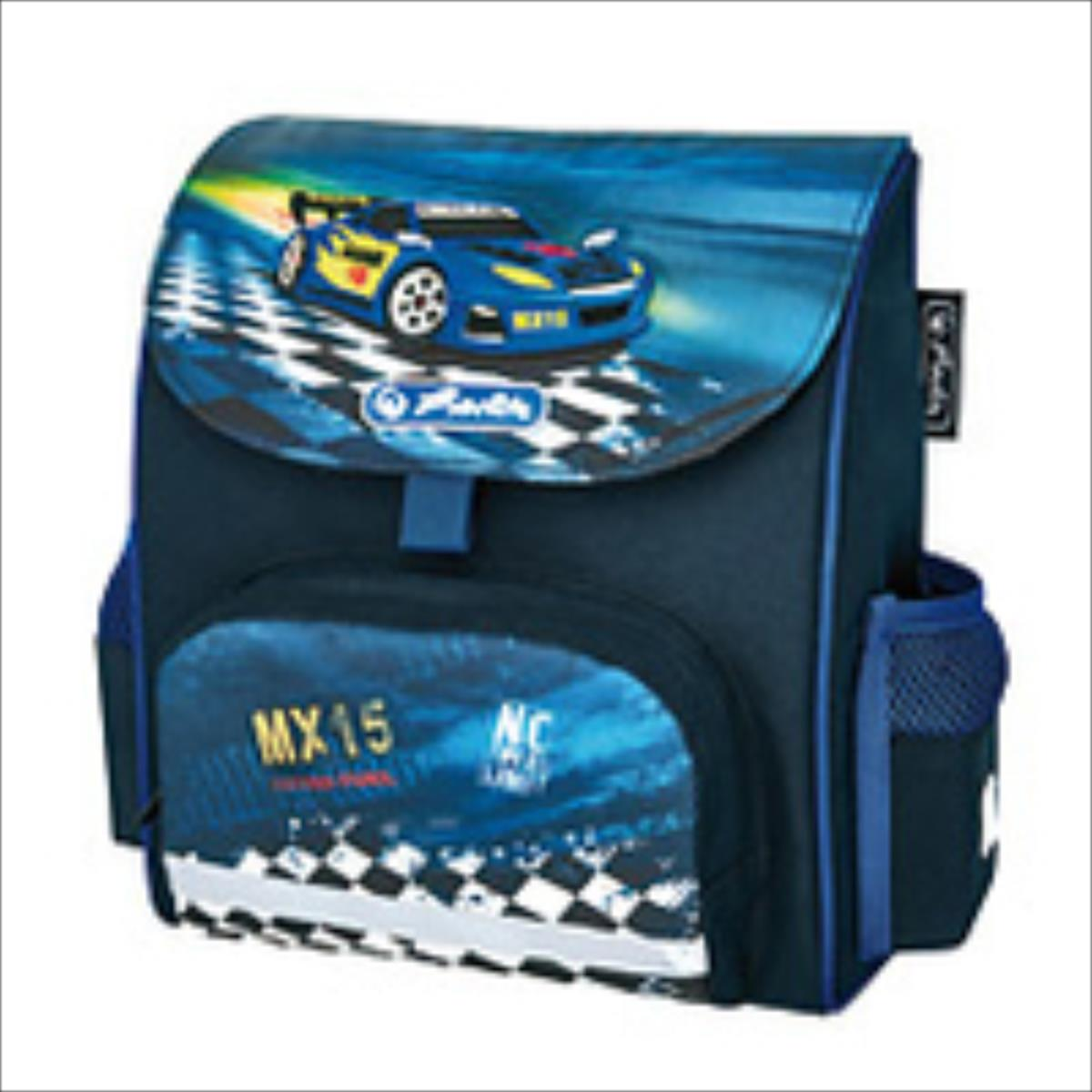 Herlitz Super Racer Mugursoma Zila Skolas somas un penāļi