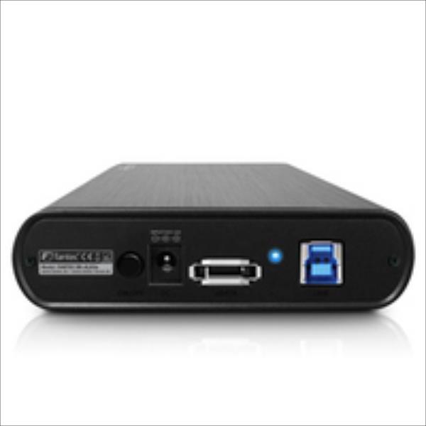 Geh.    Fantec DB-ALU3e eSata 8.9cm USB3.0 Aluminium Schwa cietā diska korpuss