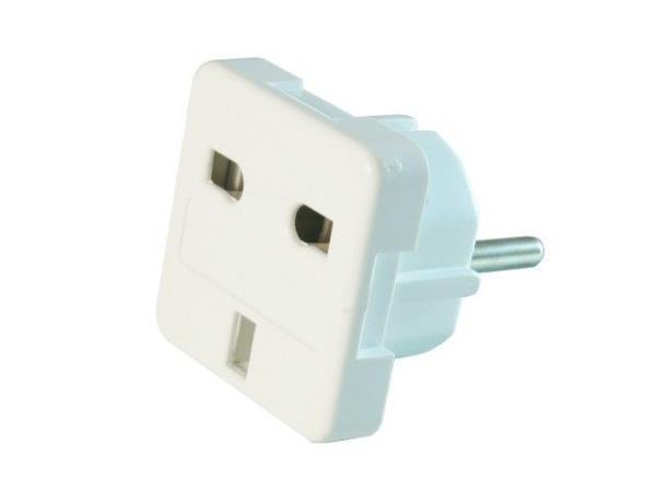 Natec EU(M)/UK(F) travel adapter adapteris