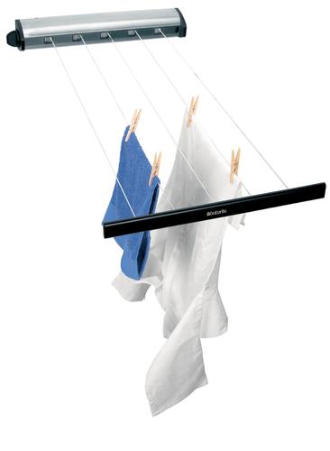 BRABANTIA izvelkamas auklas drēbju žāvēšanai, 22metri, Stainless steel 385766 gludināmais dēlis, veļas žāvētājs